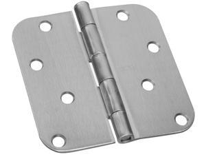 "STANLEY NATIONAL HARDWARE 2 Count 4"" Satin Nickel Interior Decor™ Round Corner Door Hinge"