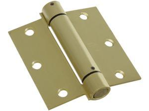 "Stanley Hardware 530743 3.5"" X 3.5"" Satin Brass Spring Hinges"
