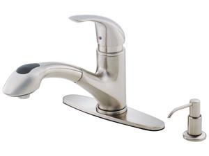 Danze D454612SS Melrose Single Handle Low Lead Kitchen Faucet With Pull Out Spout Stainless Steel