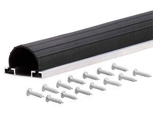 MD 87668 18' Black Universal Aluminum & Rubber Garage Door Bottom