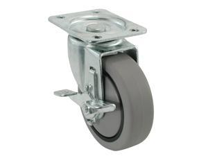 "Shepherd 9030 4"" Swivel Plate Caster With Brake"