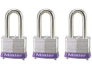 Master Lock 3TRILF No. 3 Padlock Three Pack