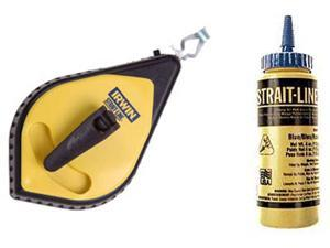 Irwin Strait Line 64494 Speed-Line Reel & Blue Chalk Set