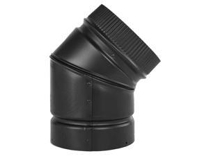 "Selkirk Metalbestos 266215 6"" 45º Elbow Matte Black"