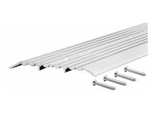 "MD 11619 36"" Aluminum Commercial Fluted Top Threshold"