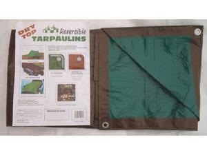 Dry Top Tarpaulins 11220 12' X 20' Brown Green Dry Top Reversible Polyethylene Tarp