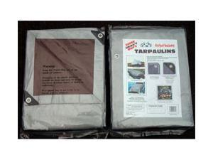 Dry Top Tarpaulins 21012 10' X 12' Silver & Brown Super Heavy Duty Polyethylene Tarp