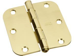 "STANLEY NATIONAL HARDWARE 3.5"" X 3.5"" Solid Brass Round Corner Hinges"