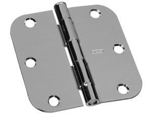 "STANLEY NATIONAL HARDWARE 2 Count 3.5"" Bright Nickel Interior Decor™ Round Corner Door Hinge"