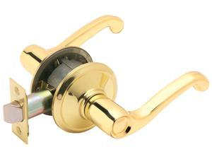 Schlage F10VFLA605 Bright Brass Flair Lever Passage Set