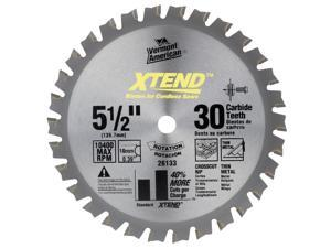 "Vermont American 26133 5-1/2"" XTEND™ Cordless Series Carbide Tipped Circular Saw Blade"
