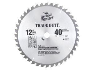 "Vermont American 27204 12"" Trade Duty® Series 40TSI Carbide Tipped Circular Saw Blade"