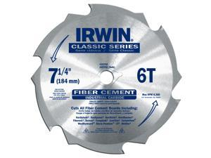 "Irwin 15702 7-1/4"" 6-Tooth Fiber Cut Cement Board Saw Blade"