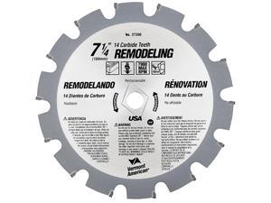 "Vermont American 27350 14 TPI 7-1/4"" Semi-Industrial Carbide Tipped Circular Saw Blade"