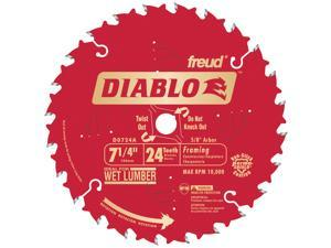 "Freud D0724A 7-1/4"" 24T Diablo™ Circular Saw Framing Blade"