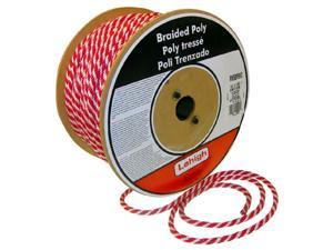"The Lehigh Group RWSBP850W 3/8"" X 50' Red & White Polypropylene Solid Braid Multifilament Derby Rope"