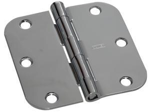 "Stanley Hardware 750380 2 Count 3.5"" Bright Chrome Interior Decor™ Round Corner Door Hinge"