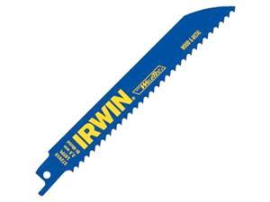 "Irwin 372810P5 5 Count 8"" 10 TPI Metal & Wood Cutting Reciprocating Saw Blades"