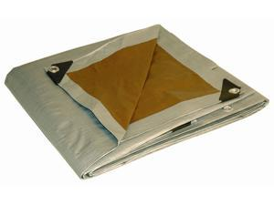 Foremost Tarp 22020 20' X 20' Silver & Brown Tarp