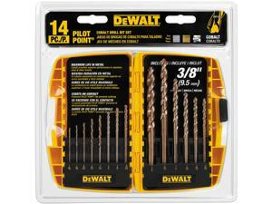 Dewalt DW1263 13 Piece Cobalt Split-Point Drill Bit Set