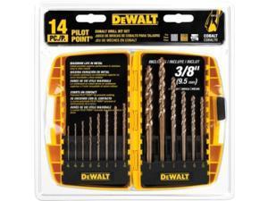 Dewalt DW1263 13 Piece Cobalt Split-Point Drill Bit Set