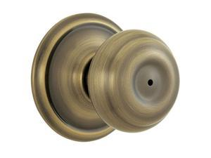 Schlage F40VGEO609 Antique Brass Georgian Knob Privacy Set