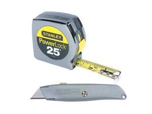 Stanley Hand Tools 90-082 25' PowerLock® Tape & Utility Knife Pack