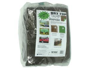 Dry Top Tarpaulins 13060 30' X 60' Brown & Green Dry Top Reversible Polyethylene Tarp