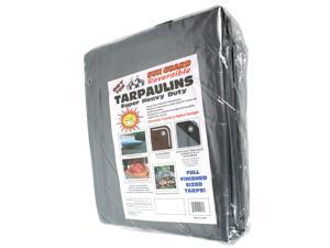 Dry Top Tarpaulins 23060 30' X 60' Silver & Brown Super Heavy Duty Polyethylene Tarp