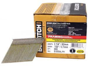 "Bostitch Stanley S12DGAL-FH 2,000 Count 3.25"" Thickcoat Galvanized® 28º Wire Collated Stick Framing Nails"