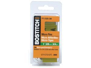 "Bostitch Stanley PT-2325-3M 3,000 Count 1"" 23 Gauge Galvanized Micro Pin"