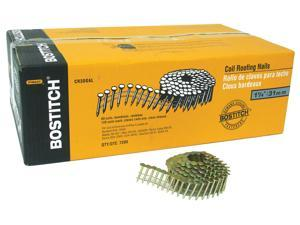 "Bostitch Stanley CR2DGAL 7,200 Count 1"" Galvanized 15° Wire Collated Roofing Nails"