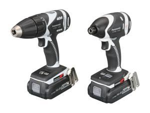 Panasonic EYC108LR 14.4V Hammer Drill / Impact Driver Combo Kit