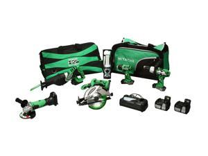 Hitachi KC18DG6L 18V Lithium Ion 6-Tool Combo Kit (3.0Ah)
