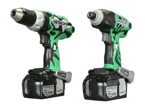 Hitachi KC18DDL 18V Lithium Ion Driver Drill & Impact Driver Combo Kit (3.0Ah)