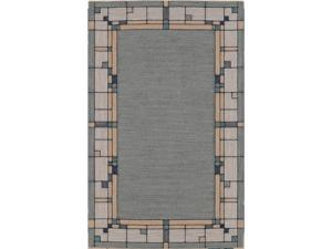 "Shaw Living Nexus Glass Block Area Rug Ecru 3' 6"" x 5' 6"" 33618N0018"