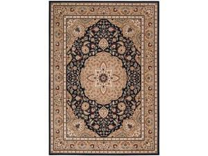 "Shaw Living Arabesque Easton Area Rug Cannon Black 5' 6"" x 7' 5"" 3K06802500"