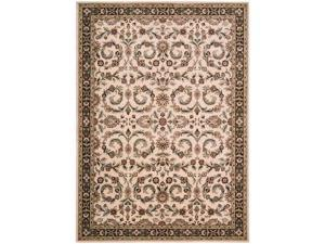 "Shaw Living Arabesque Juliard Area Rug Ivory Cream 5' 6"" x 7' 5"" 3K06803100"