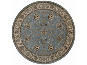 "Shaw Living Arabesque Coventry Area Rug Blue Smoke 7' 5"" Round 3K07000400"