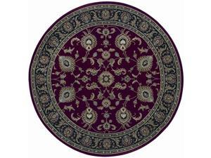 "Shaw Living Arabesque Coventry Area Rug Firebrick Red 7' 5"" Round 3K07000800"