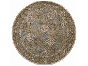 "Shaw Living Arabesque Stratford Area Rug Light Multi 7' 5"" Round 3K07001110"