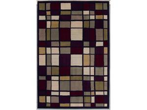 "Shaw Living Modern Elements Franklin Area Rug Black 5' x 7' 4"" 3P10500500"