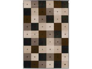 "Shaw Living Modern Elements Checkmate Area Rug Black 5' x 7' 4"" 3P10502500"