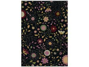 "Shaw Living Kathy Ireland Home Young Attitudes Garden Girl Area Rug Dark Shadow 5' 5"" x 7' 9"" 3P17209500"
