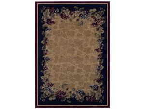 "Shaw Living Kathy Ireland Home Jardin Du Jour Tuscan Vineyards Area Rug Natural 3' 10"" x 5' 5"" 3V35305100"