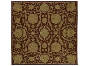 "Shaw Living Antiquities Wilmington Area Rug Brick 7' 7"" x 7' 7"" 3V65091800"