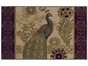 "Shaw Living Reflections Peacock Area Rug Beige 2' 6"" x 4' 2"" 3VA7208100"