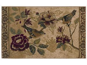 "Shaw Living Reflections Bird Study Area Rug Beige 2' 6"" x 4' 2"" 3VA7213100"