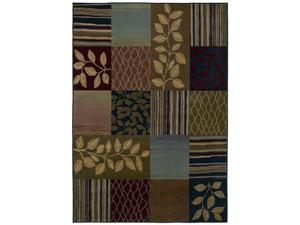 "Shaw Living Kathy Ireland Home Essentials Safari Leaves Area Rug Multi 2' 3"" x 3' 2"" 3X07832440"