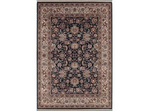 "Shaw Living Kathy Ireland Home Gallery European Elegance Area Rug Black 2' 2"" x 3' 5"" 3X30502500"